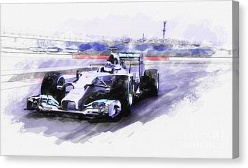 Mercedes F1 W05 Canvas Print