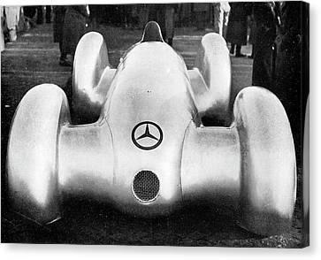 European Championship Canvas Print - Mercedes W154 Racing Car by Cci Archives
