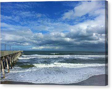 Mercer's Pier Canvas Print by Karen Rhodes