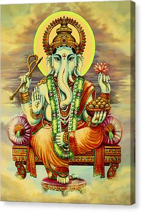 Merciful Ganesha Canvas Print by Svahha Devi