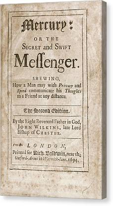 'mercury' (1694) Canvas Print by Library Of Congress