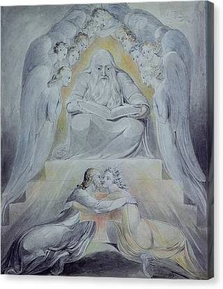 Dgt Canvas Print - Mercy And Truth Are Met Together, Righteousness And Peace Have Kissed Each Other by William Blake