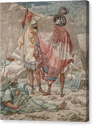 Mercy David Spareth Sauls Life, 1854 Oil On Canvas Canvas Print by Richard Dadd