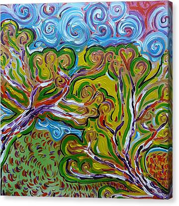 Merging In The Trees Canvas Print by Gioia Albano