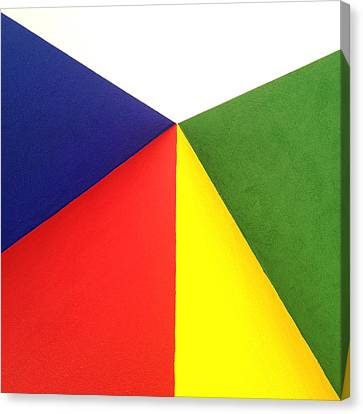 Merging Points Canvas Print by Art Block Collections