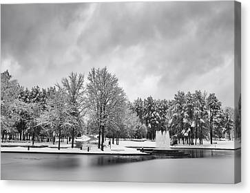 Meridian Parkway Winter Canvas Print by Ben Shields
