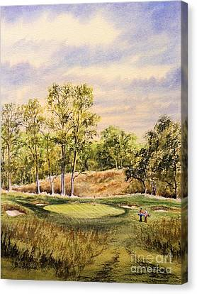 Canvas Print featuring the painting Merion Golf Club by Bill Holkham