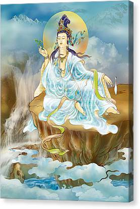 Merit King Kuan Yin Canvas Print by Lanjee Chee