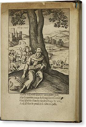 Merlin Sitting Under A Tree Canvas Print by British Library