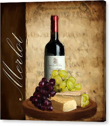 Purple Grapes Canvas Print - Merlot IIi by Lourry Legarde