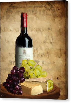 Purple Grapes Canvas Print - Merlot Iv by Lourry Legarde