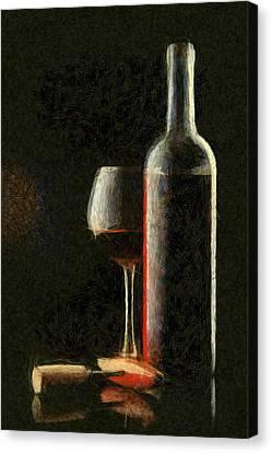 Alchol Canvas Print - Merlot Red Wine by Georgi Dimitrov