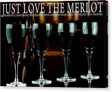 Vino Canvas Print - Merlot Wine by Tommytechno Sweden