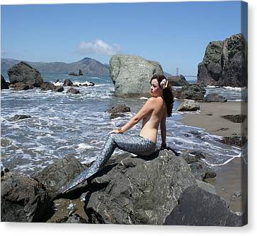 Mermaid At Lands End Canvas Print