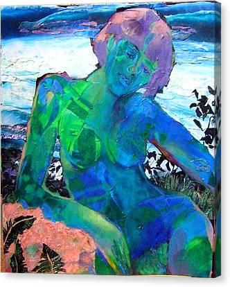 Mermaid Canvas Print by Diane Fine