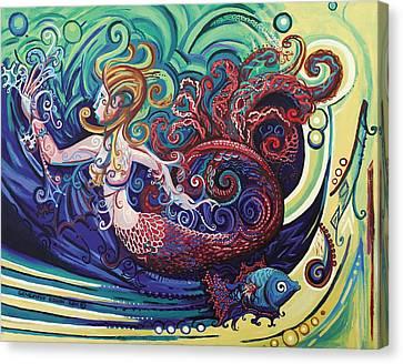 Mermaid Gargoyle Canvas Print