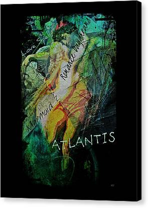 Canvas Print featuring the digital art Mermaid Love Spell by Absinthe Art By Michelle LeAnn Scott