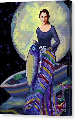 Mermaid Mother Canvas Print