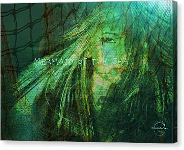 Mermaid Of The Sea Canvas Print by Absinthe Art By Michelle LeAnn Scott
