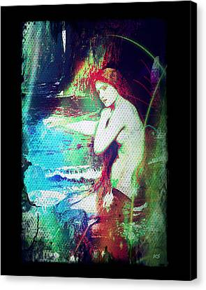 Mermaid Of The Tides Canvas Print by Absinthe Art By Michelle LeAnn Scott