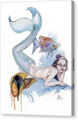 Mermaid Patricia Canvas Print by Jimmy Adams