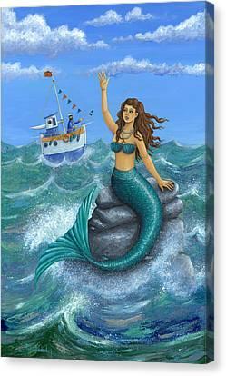 Mermaid Canvas Print by Peter Adderley