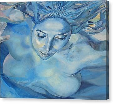 Canvas Print featuring the photograph Mermaid by Ramona Johnston