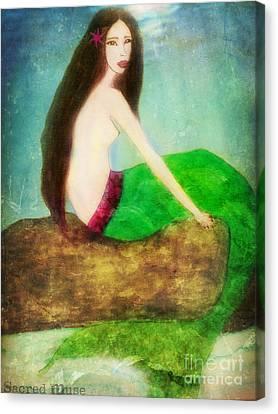 Mermaid  Canvas Print by Sacred  Muse