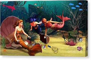 Mermaid Treasures Canvas Print