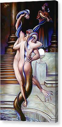 Mermalien Metamorphosis Canvas Print by Patrick Anthony Pierson