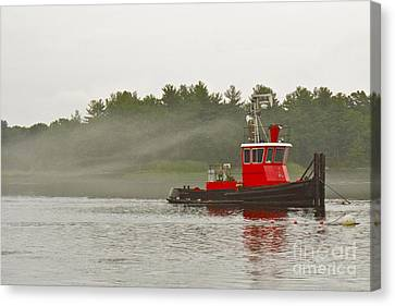 Canvas Print featuring the photograph Merrimack Mist by Alice Mainville