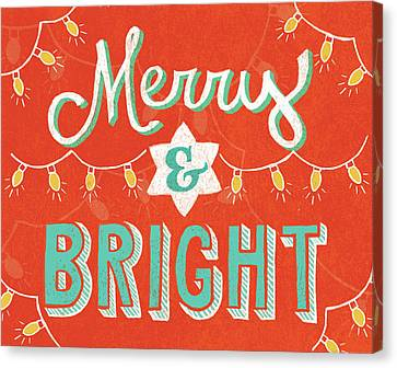 Christmas Lights Canvas Print - Merry And Bright by Mary Urban