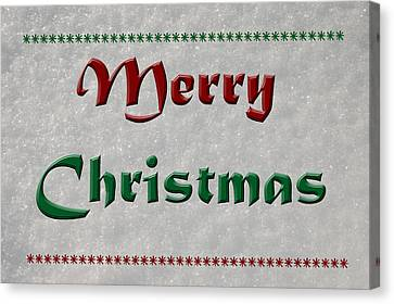 Merry Christmas Canvas Print by Aimee L Maher Photography and Art Visit ALMGallerydotcom