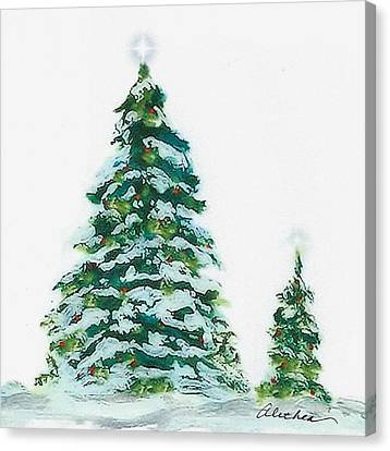 Merry Christmas Canvas Print by Alethea McKee