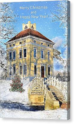 Merry Christmas And Happy New Year Canvas Print by Gynt