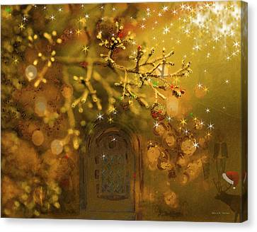 Merry Christmas Canvas Print by Angela A Stanton