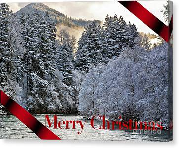 Merry Christmas Card Canvas Print by Belinda Greb