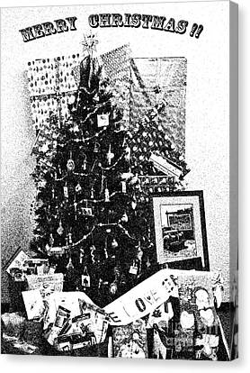 Canvas Print featuring the photograph Merry Christmas Card by Gary Brandes