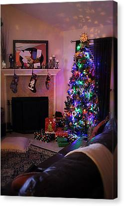Canvas Print featuring the photograph Merry Christmas From My Home To Yours by Trish Mistric