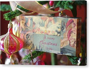 Canvas Print featuring the photograph Merry Christmas Greeting by Suzanne Powers