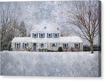Wintry Holiday Canvas Print by Shelley Neff