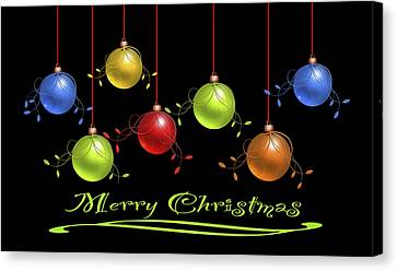 Merry Christmas Canvas Print by Katy Breen