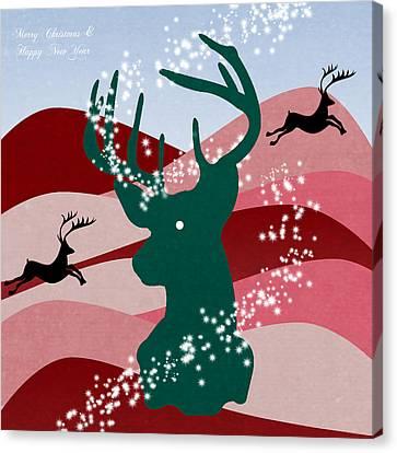 merry Christmas Canvas Print by Mark Ashkenazi