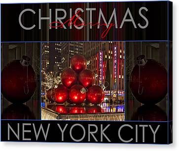 Merry Christmas Nyc Canvas Print by Susan Candelario