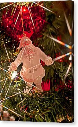 Merry Christmas - Santa Ornament 001 Canvas Print by George Bostian