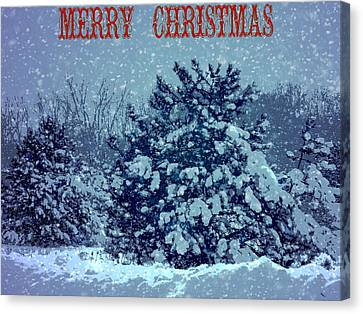 Merry Christmas Snow Canvas Print by Dan Sproul