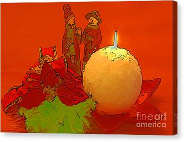 Canvas Print featuring the photograph Merry Christmas by Teresa Zieba