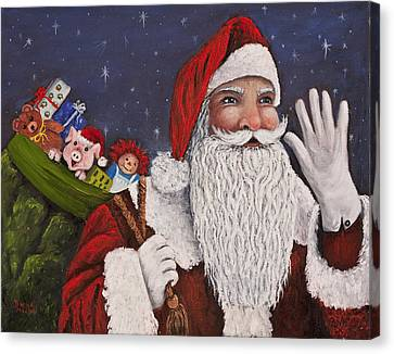 Merry Christmas To All Canvas Print by Darice Machel McGuire