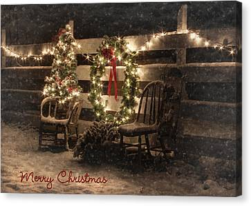Merry Christmas To All Canvas Print by Lori Deiter