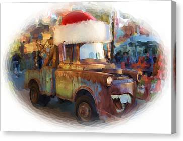 Merry Christmas Tow Mater  Canvas Print